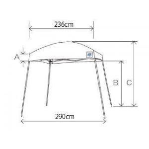 テント ワンタッチ タープテント 2.9m×2.9m EZ-UP DM29-07 半横幕付  送料無料 日除け 日よけ|esheetpro|03
