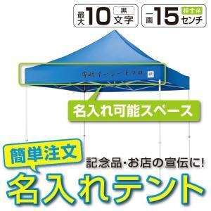 イベントテント スチール 3m×3m 名入れ料込 EZ-UP DREAM DR30-17 送料無料 ワンタッチ タープ 日除け 日よけ|esheetpro