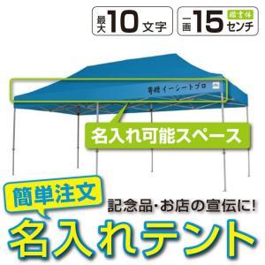 イベントテント スチール製フレーム 2.4m×4.8m CARAVAN DX-C2448 名入れ料込 ワンタッチテント タープテント 頑丈プロ向け 簡単設営 日除け 日よけ|esheetpro