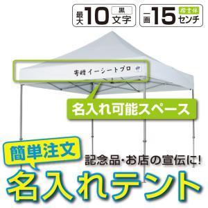 テント ワンタッチ タープテント 3m×3m EZ-UP DELUXE DX30 スチール製フレーム 名入れ料込 送料無料 頑丈プロ向け 簡単設置  日除け 日よけ|esheetpro