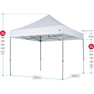 テント ワンタッチ タープテント 3m×3m EZ-UP DELUXE DX30 スチール製フレーム 名入れ料込 送料無料 頑丈プロ向け 簡単設置  日除け 日よけ|esheetpro|02