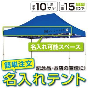 テント ワンタッチ タープテント 3m×4.5m EZ-UP DELUXE DX45 スチール製フレーム 名入れ料込 送料無料 頑丈プロ向け 簡単設置  日除け 日よけ|esheetpro