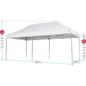 テント ワンタッチ タープテント 3m×6m EZ-UP DELUXE DX60 スチール製フレーム 名入れ料込 送料無料 頑丈プロ向け 簡単設置  日除け 日よけ|esheetpro|02