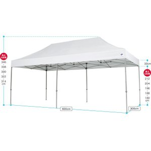 テント ワンタッチ タープテント 3m×6m EZ-UP DELUXE DX60 スチール製フレーム 送料無料 頑丈プロ向け 簡単設置  日除け 日よけ|esheetpro|06