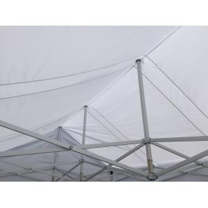 テント 3.6m×5.4m (2間×3間) アルミ製軽量フレーム 切妻 CARAVAN HEX-3654K 送料無料 最強高度の簡単設置 名入れ料込 日除け 日よけ イベント キャラバン|esheetpro|02