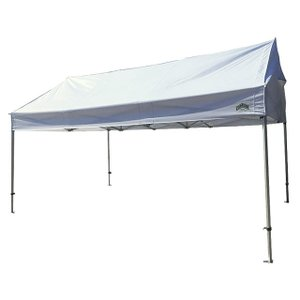 テント 3.6m×5.4m (2間×3間) アルミ製軽量フレーム 切妻 CARAVAN HEX-3654K 送料無料 最強高度の簡単設置 名入れ料込 日除け 日よけ イベント キャラバン|esheetpro|03