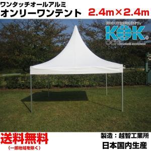 イベントテント オールアルミ 2.4m×2.4m オンリーワンテント S-2 越智工業所 簡単設営 日除け 日よけ|esheetpro