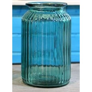 ノーブランド品 ヨーロピアンスタイル 美しい アクアブルー ガラス製 フラワーベース 硝子瓶 (大サイズ) eshimi404