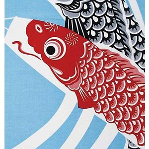 ヤマコー 四季彩布 てぬぐい 鯉のぼり 35×90cm 87550|eshimi404