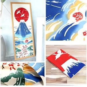 Airashika(あいらしか) 和雑貨 注染手ぬぐい『縁起』 初日の出 富士山 33×90cm|eshimi404