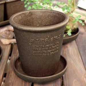 gardens(ガーデンズ) 鉢 エコポット丸型 5号 素焼き eshimi404