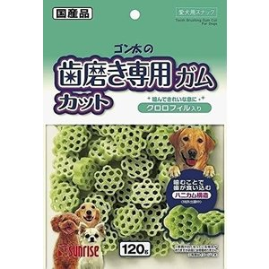 ゴン太 ゴン太の歯磨き専用ガム カット クロロフィル入り 120g×3個入|eshimi404