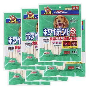 ドギーマン 犬用おやつ ホワイデントスティック 超徳用 ビーフ Sサイズ 24本入×6個 (まとめ買い)|eshimi404
