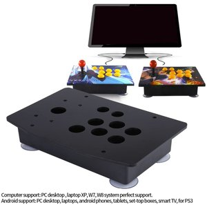 DIY ファイティングスティック アーケードセット アーケードゲーム アクリルパネル+ボトムボックス 交換キット アケコン アーケードゲーム|eshimi404