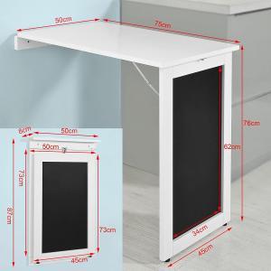 SoBuy FWT20-W 勉強机 パソコンデスク 折り畳みテーブル 在宅勤務 カウンターテーブル壁掛け ?黒板テーブル お子様 木製 北欧|eshimi404