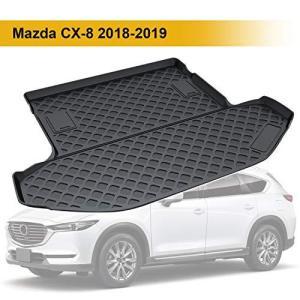 マツダ Mazda CX-8 2018-2019対応 ラゲッジトレイ トラックマット オフロードバージョン用 3Dラゲッジマット 車種専用設|eshimi404