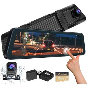 VEROCITY ドライブレコーダー ミラー 前後カメラ 11.66インチ 2K録画対応 最高画質 Sony IMX335センサー 全画面モニター タッチパネル 170度広角カメラ eshop-smart-market