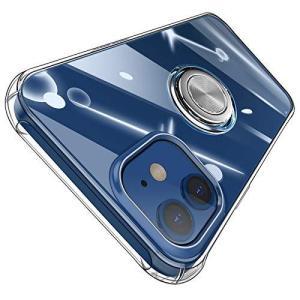 iPhone12 ケース iPhone12 Pro ケース クリア リング付 ソフト TPU 耐久 シリコン 米軍MIL規格 耐衝撃 カメラ保護 防塵 eshop-smart-market