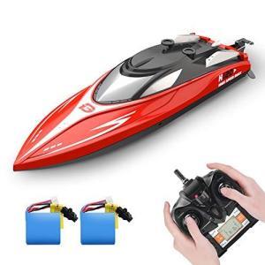 DEERC ラジコン 船 ボート 高速 ラジコンボート こども向け リモコン 28km/h 防水性 RCスピードボート おもちゃ 2.4Gh eshop-smart-market