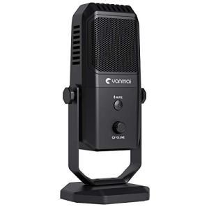 Kungber マイク PC コンデンサーマイク USBマイク 指向性4モード ミュートボタン付き 音量調節可能 ヘッドホン対応|eshop-smart-market