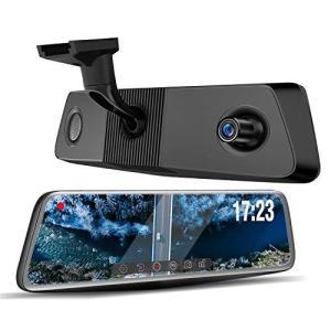 JADOドライブレコーダー ミラー型 Sony IMX423 前後カメラ 1296P 32GBカード付属 前170°後140°広角レンズ GPS搭載 WDR HDR 暗視機能 24時間駐車監視 eshop-smart-market