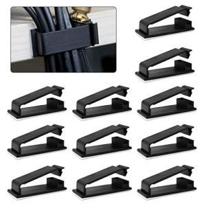 MAVEEK ケーブルクリップ ケーブルホルダー コードフック 粘着テープ付 結束固定ベース ブラック 30個入り|eshop-smart-market