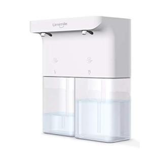 Umimile ソープディスペンサー 自動 泡 ハンドソープ 充電 タッチセンサー 吐出量3段階調整 ディスペンサー 600ml 防水 食器用洗剤 キッチン 洗面所 (泡+泡) eshop-smart-market