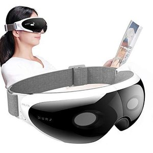 ANLAN 可視アイウォーマー 可視レンズ付き 4つモード 42℃温熱 振動エステ 音楽再生 USB充電 15分自動オフ 男女兼用 eshop-smart-market