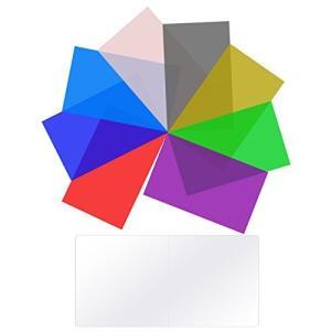 Neewer 8枚カラーフィルターセット 8色 9x13.7cm 透明色補正ライティングフィルター ...