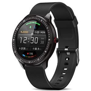 DoSmarter スマートウォッチ 活動量計 万歩計 心拍計 歩数計 腕時計 全画面タッチスクリーン IP67防水 eshop-smart-market