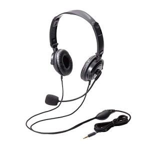 エレコム ヘッドセット マイク 4極 両耳 オーバーヘッド 耐久コード 折り畳み式 1.8m HS-HP20TBK|eshop-smart-market