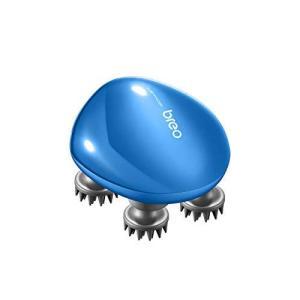 breo 電動ヘッドブラシ IPX7 防水 頭皮ケア 全身使用可 USB充電式 メタリックブルー scalp mini eshop-smart-market