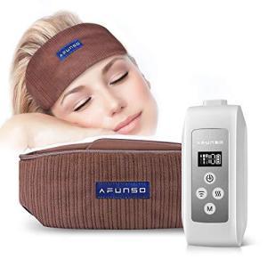 AFUNSO ヘッドバンド 頭ケア 頭スッキリ空気圧 USB充電式 温感機能搭載 空気圧縮 自動電源オフ 静音 家庭用 eshop-smart-market