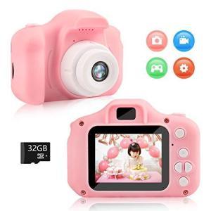Kodi キッズカメラ 子供用 デジタルカメラ トイ ミニ カメラ 撮影 録画 再生 ゲーム 多機能付き usb充電式 32Gカー|eshop-smart-market