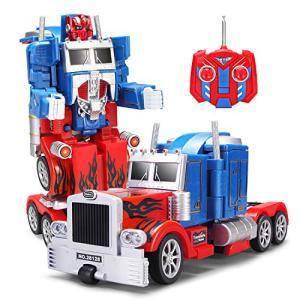YARMOSHI ロボット トラック 2イン1 アクション フィギュア 自動ロボット リモコン 戦闘 おもちゃ USB充電式 簡単|eshop-smart-market