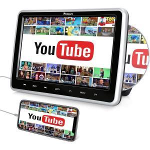 NAVISKAUTO ヘッドレストモニター DVD スロットイン式 10.1インチ HDMI入力 スマホ同期 DVDプレーヤー 車載 CPRM リージョンフリー レジューム eshop-smart-market
