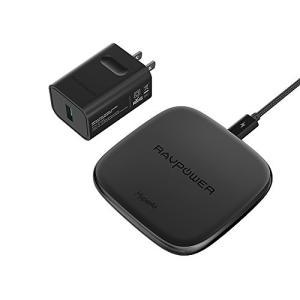 RAVPower ワイヤレス充電器 Qi HyperAir 急速充電 Qi認証/iPhone 最大 ...