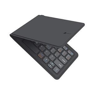 iClever Bluetoothキーボード 折りたたみ式 レザー調 360度回転 USB 薄型 i...
