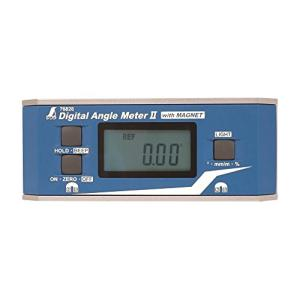シンワ測定(Shinwa Sokutei) デジタルアングルメーターII 防塵防水 マグネット付き 76826|eshop-smart-market