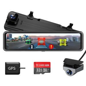 Changer ドライブレコーダー ミラー型 前後カメラ BSD死角検出機能*ADAS運転支援システム搭載 右ハンドル仕様 eshop-smart-market