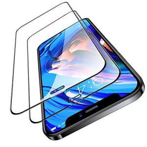 TORRAS 全面保護 iPhone 12 mini 用 ガラスフィルム 割れない強化ガラス 2枚入り ガイド枠付き 三倍強化黒縁 eshop-smart-market