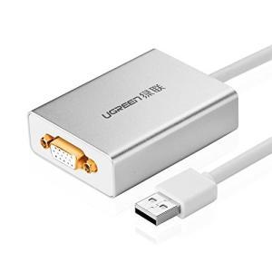 UGREEN USB VGA変換アダプタ USB 2.0 to VGA交換ケーブル 1080P ディ...
