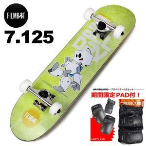 ジュニア キッズ スケートボード コンプリート スケボー フィルムボット FILMBOT 7125インチ FBC003 組み立て発送可能! 子供用 完成品 eshop