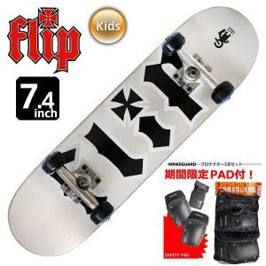 ジュニア キッズ スケートボード コンプリート スケボー フリップ FLIP TEAM ODYSSEY YEL MID 7.0インチ FLC-002 子供用 完成品 eshop