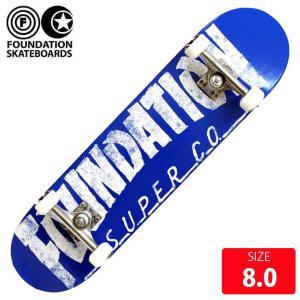 FOUNDATION コンプリート スケボー スケートボード ファンデーション THRASHER BLUE 7.75インチ FAC-021 完成品|eshop