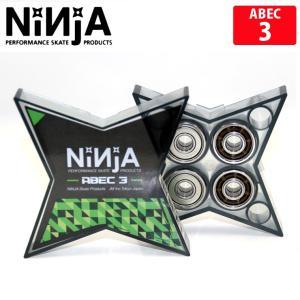 メール便対応 NINJA/ニンジャ STAR ABEC 3 OIL bearing ベアリング スケボー 人気 スケートボード sk8|eshop
