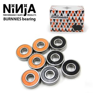NINJA ニンジャ ベアリング BURNNIES bearing オレンジ&ブラックシ-ルド/各4...