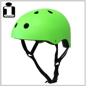 INDUSTRIAL インダストリアル ヘルメット NEON GREEN スケボー スケートボード インライン用 プロテクター|eshop