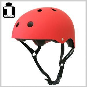 INDUSTRIAL インダストリアル ヘルメット FLATRED スケボー スケートボード インライン用 プロテクター|eshop