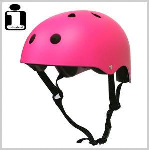 INDUSTRIAL インダストリアル ヘルメット NEON/PNK スケボー スケートボード インライン用 プロテクター|eshop